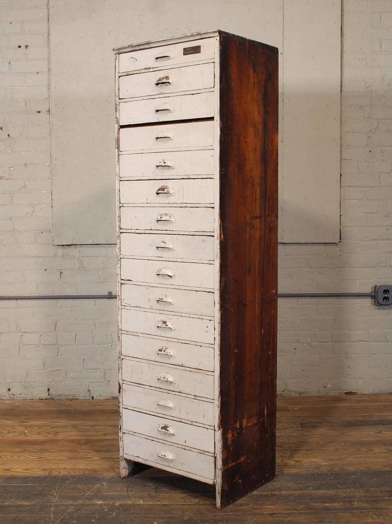 "Metal Vintage Storage Gym Locker Wooden Cabinet ""Class of 1925"" For Sale"