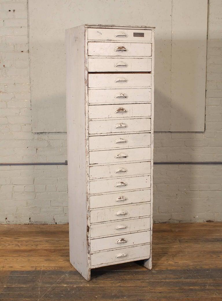 "Industrial Vintage Storage Gym Locker Wooden Cabinet ""Class of 1925"" For Sale"