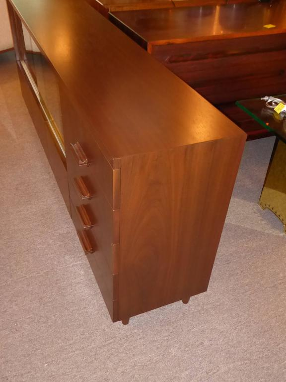 Bespoke 1950s Long Narrow Walnut Credenza by Robert Law Weed In Excellent Condition For Sale In Miami, FL