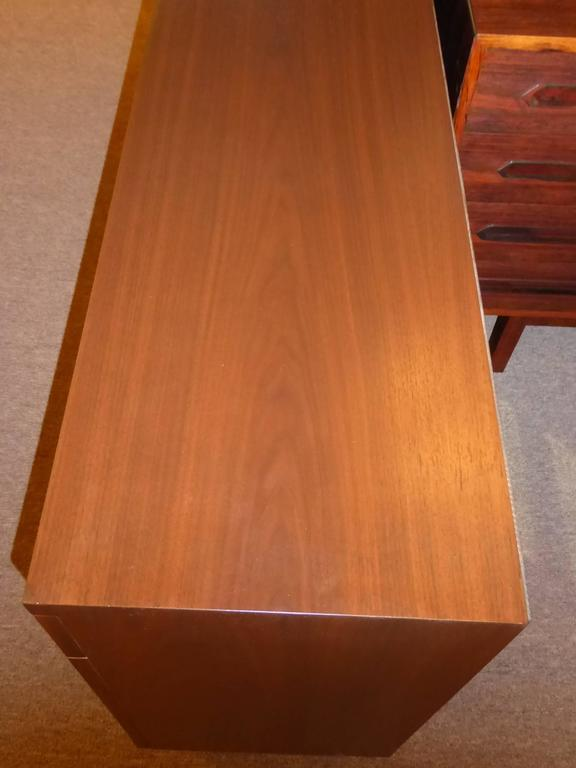 Bespoke 1950s Long Narrow Walnut Credenza by Robert Law Weed For Sale 4
