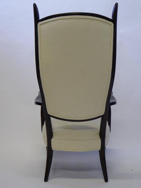 Ebonized Mid-Century Paolo Buffa Style Chieftain Armchair For Sale