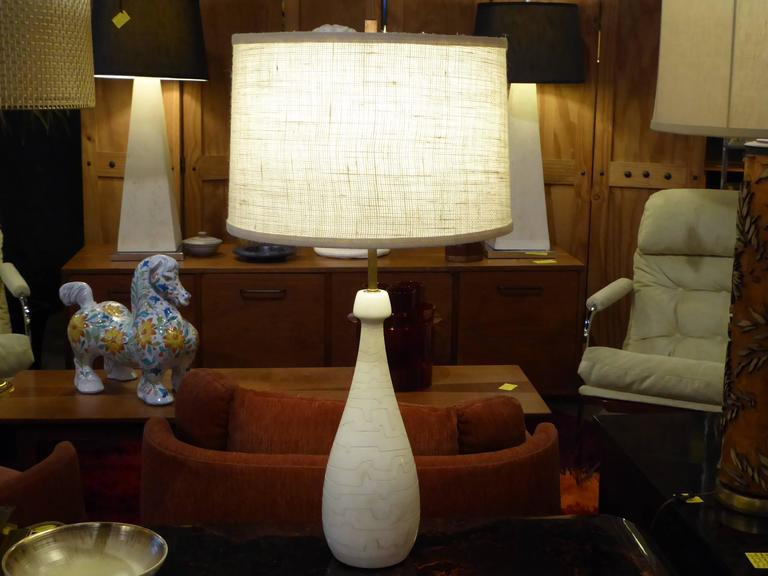 1950s Italian Modern Marble Teardrop Table Lamp for Raymor For Sale 1