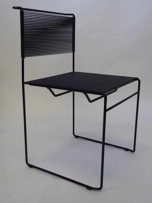 Italian Four Spaghetti Chairs by Giandomenico Belotti for FlyLine, Italy For Sale