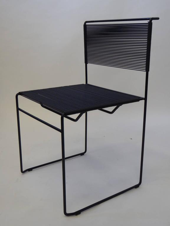 Four Spaghetti Chairs by Giandomenico Belotti for FlyLine, Italy In Excellent Condition For Sale In Miami, FL