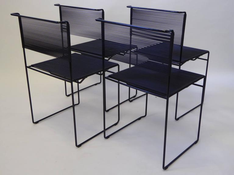 Mid-Century Modern Four Spaghetti Chairs by Giandomenico Belotti for FlyLine, Italy For Sale