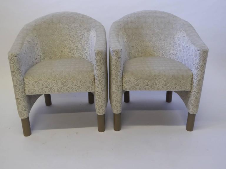 Late 20th Century Pair of Club Chairs by Brayton International Collection For Sale