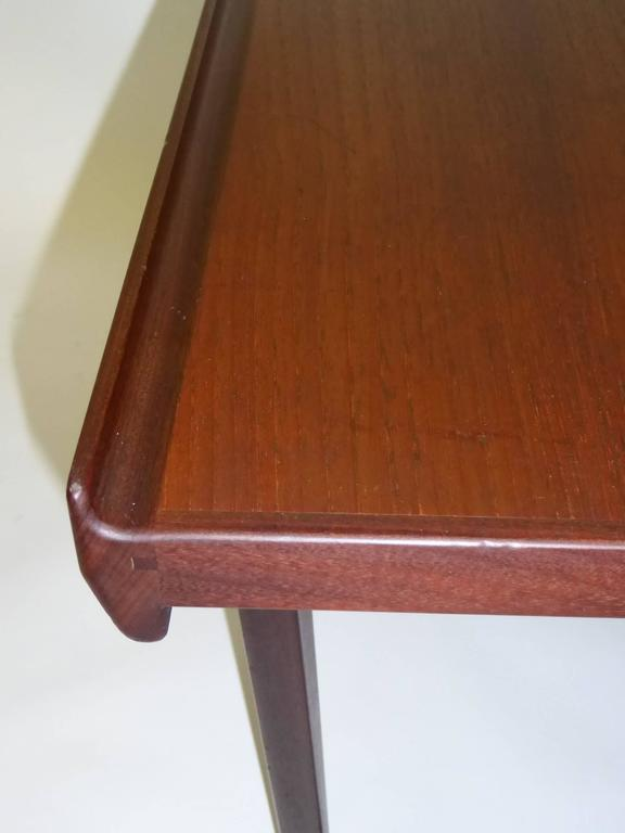 1960s Peter Løvig Nielsen Teak Fin Edge Coffee Side Table For Sale 1
