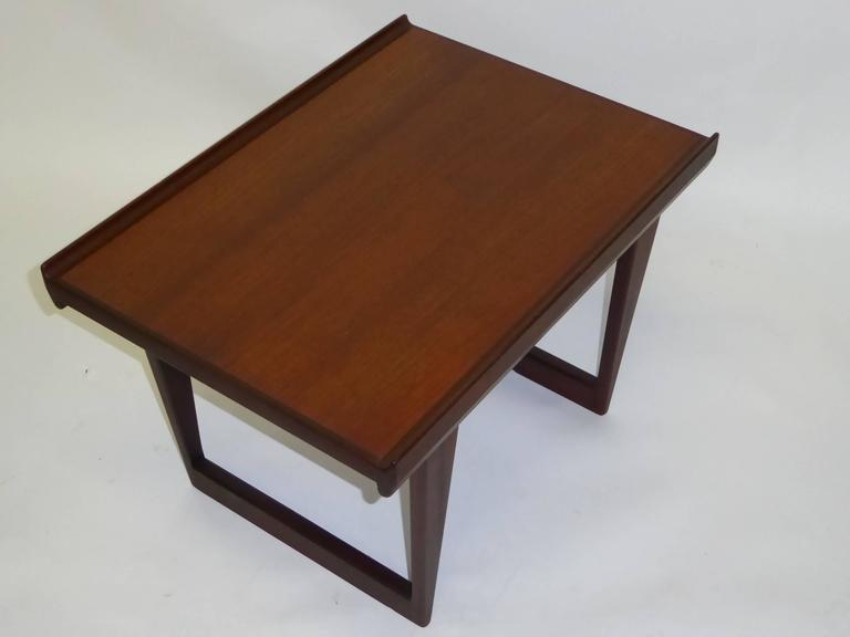 Danish 1960s Peter Løvig Nielsen Teak Fin Edge Coffee Side Table For Sale