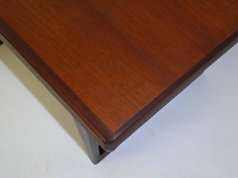 1960s Peter Løvig Nielsen Teak Fin Edge Coffee Side Table 6