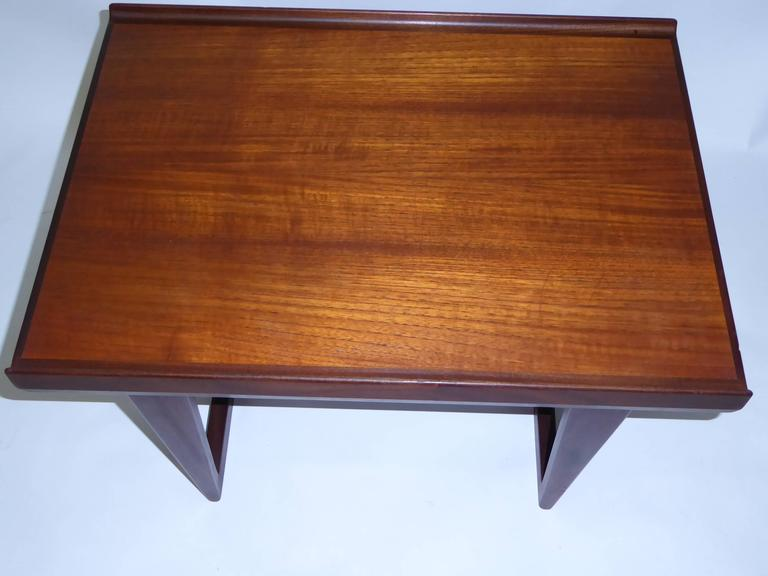 1960s Peter Løvig Nielsen Teak Fin Edge Coffee Side Table 5