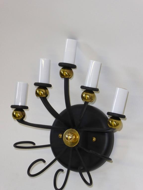 1950s Jean Royere Style Italian Five-Light Sconce 9