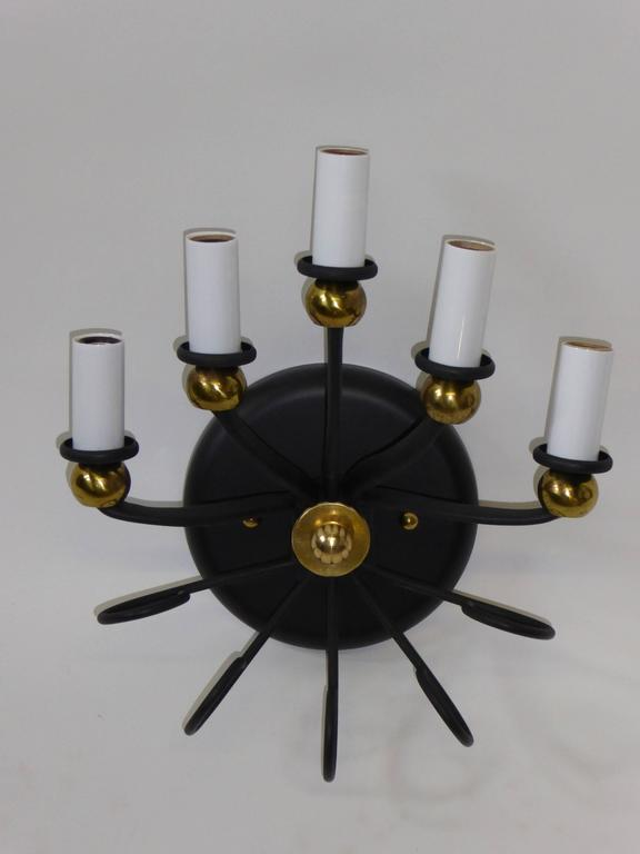 1950s Jean Royere Style Italian Five-Light Sconce 6