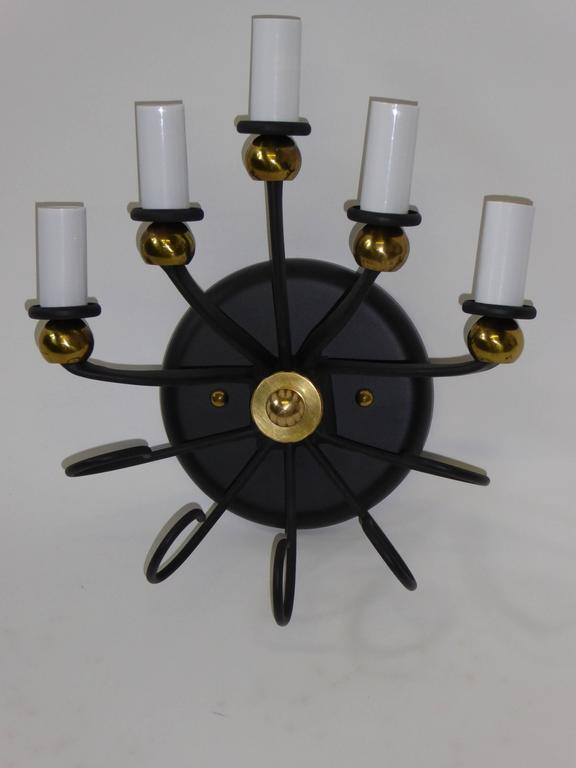 1950s Jean Royere Style Italian Five-Light Sconce 8