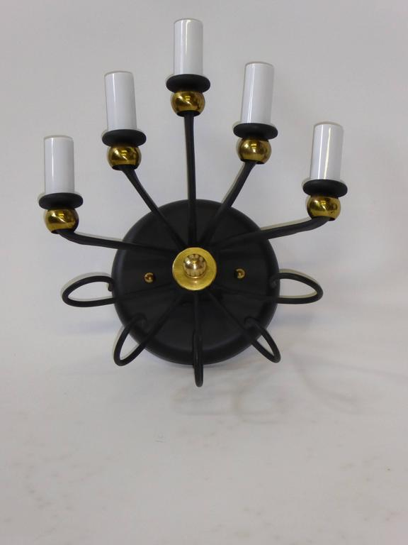 1950s Jean Royere Style Italian Five-Light Sconce 7