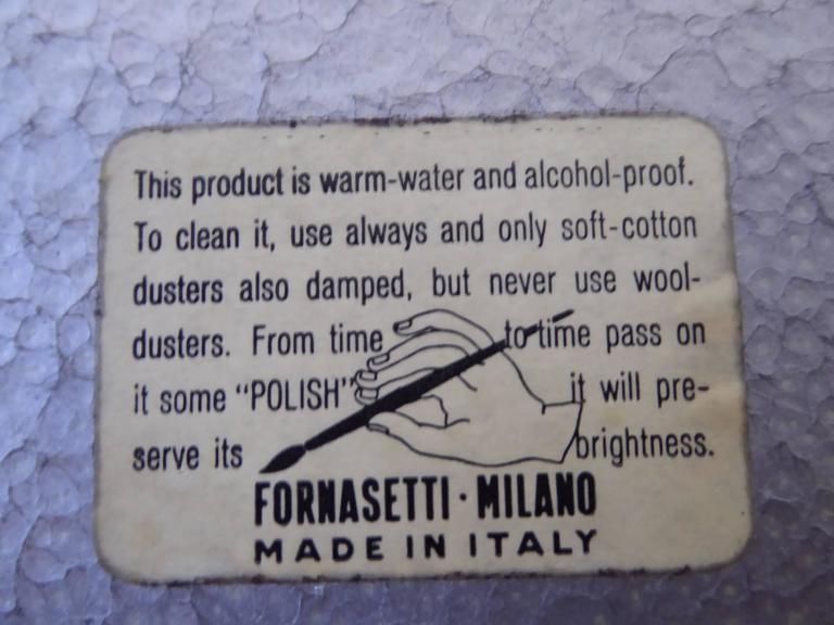 1954 Piero Fornasetti II Cortile Tole Tray For Sale 2