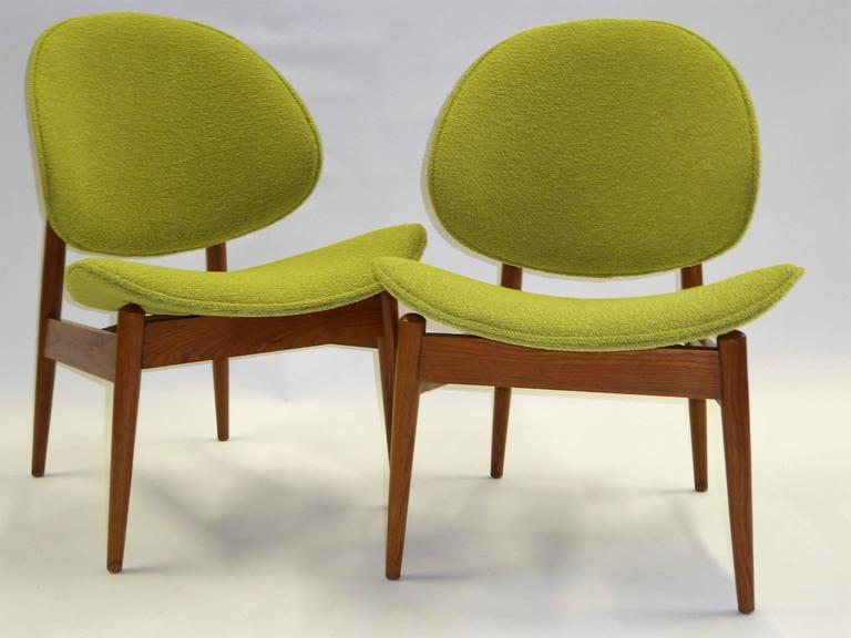 Early 1950s Clam Shell Chairs Designed And Patented By Seymour James Weiner  For His Miami Company Nice Design