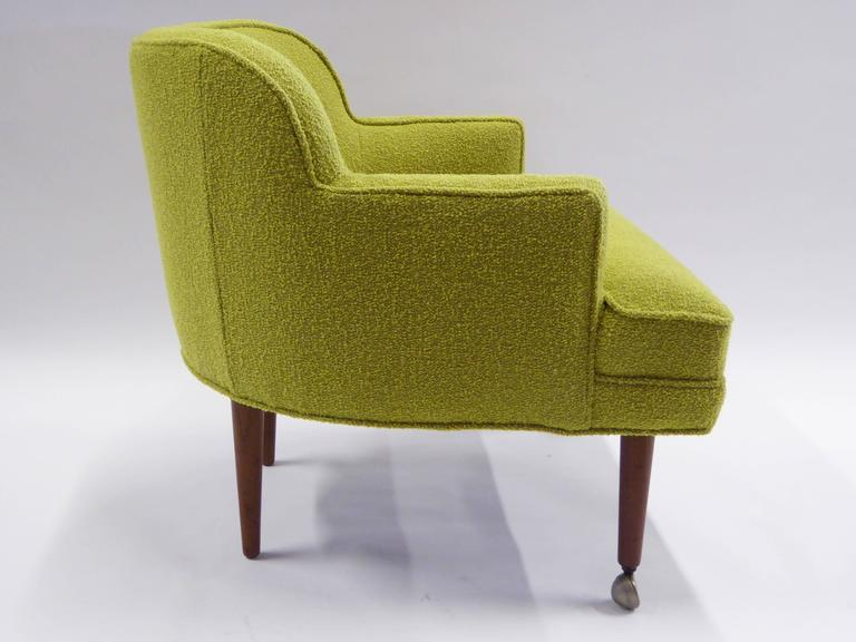 Upholstery 1950s Orla Molgaard Nielsen Style Boucle Upholstered Armchair For Sale