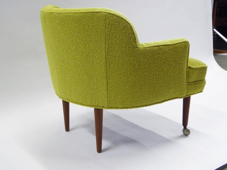 Mid-20th Century 1950s Orla Molgaard Nielsen Style Boucle Upholstered Armchair For Sale