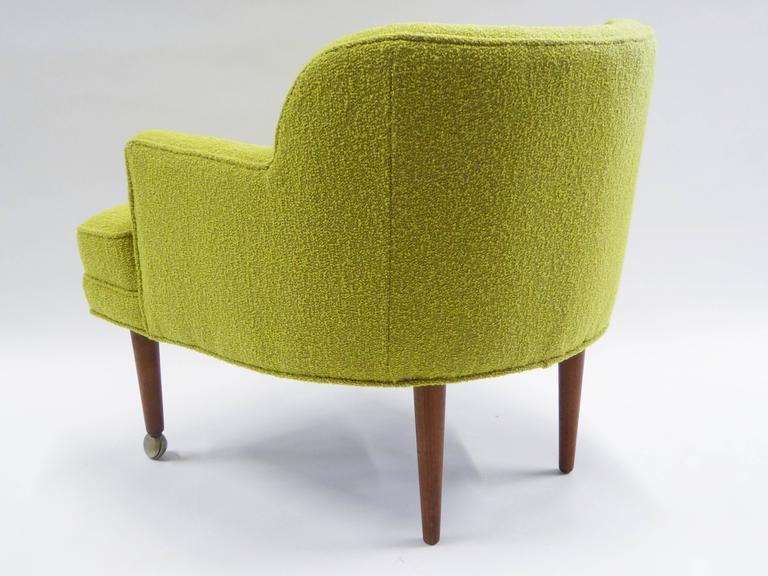 Danish 1950s Orla Molgaard Nielsen Style Boucle Upholstered Armchair For Sale