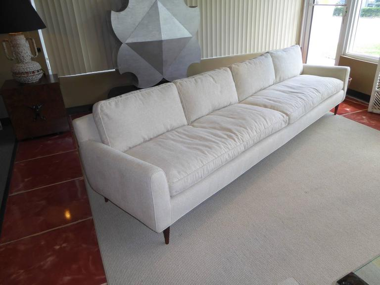 American 1957 Gio Ponti Bespoke Sofa For Singer And Sons Mid Century Modern