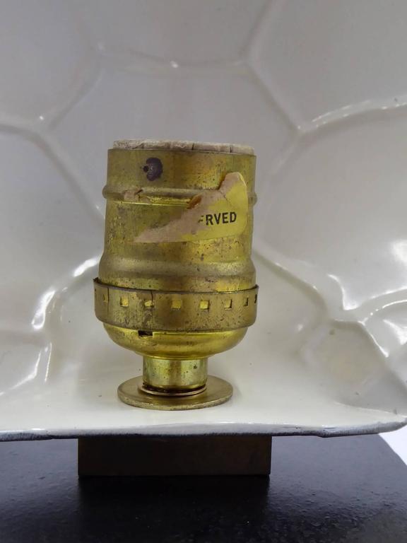 1970s Chapman Brass Tortoise Shell Lamp For Sale 2