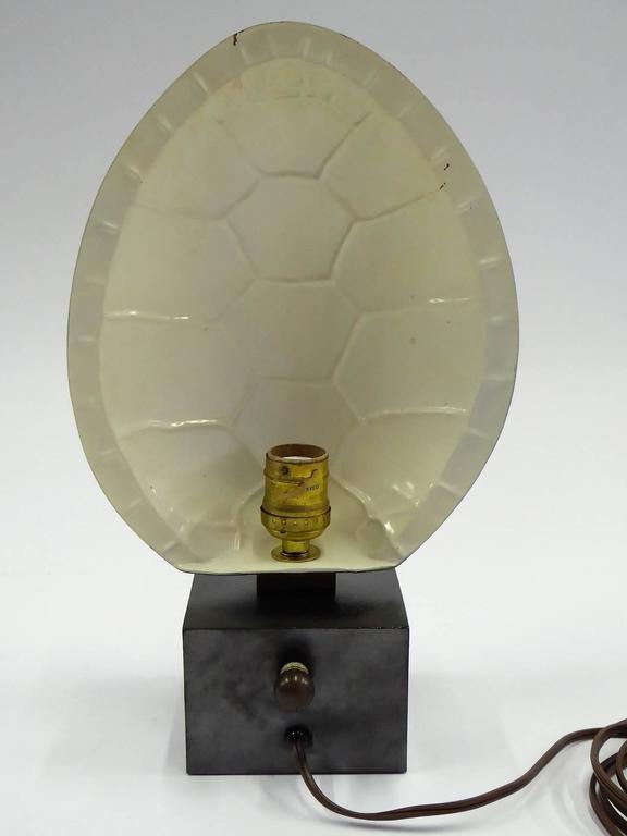 American 1970s Chapman Brass Tortoise Shell Lamp For Sale