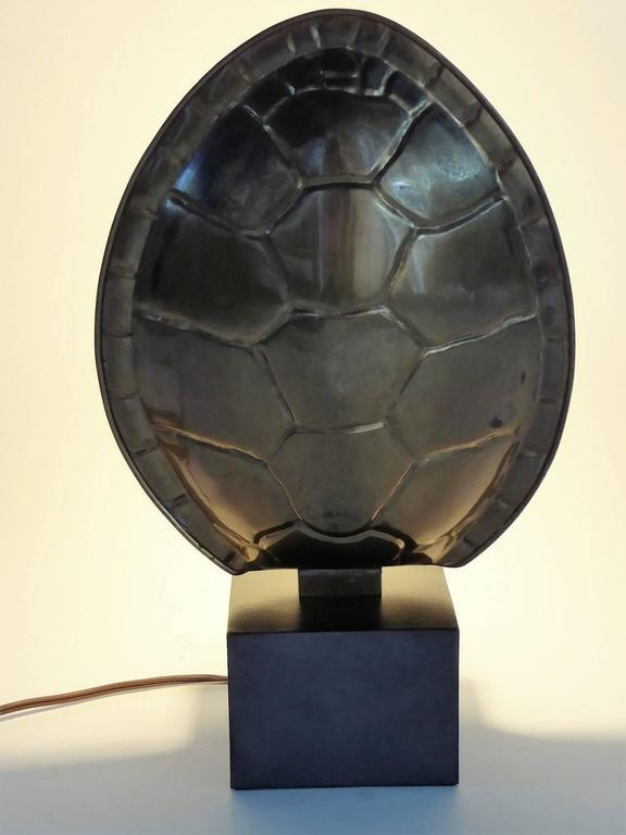 1970s Chapman Brass Tortoise Shell Lamp For Sale 4