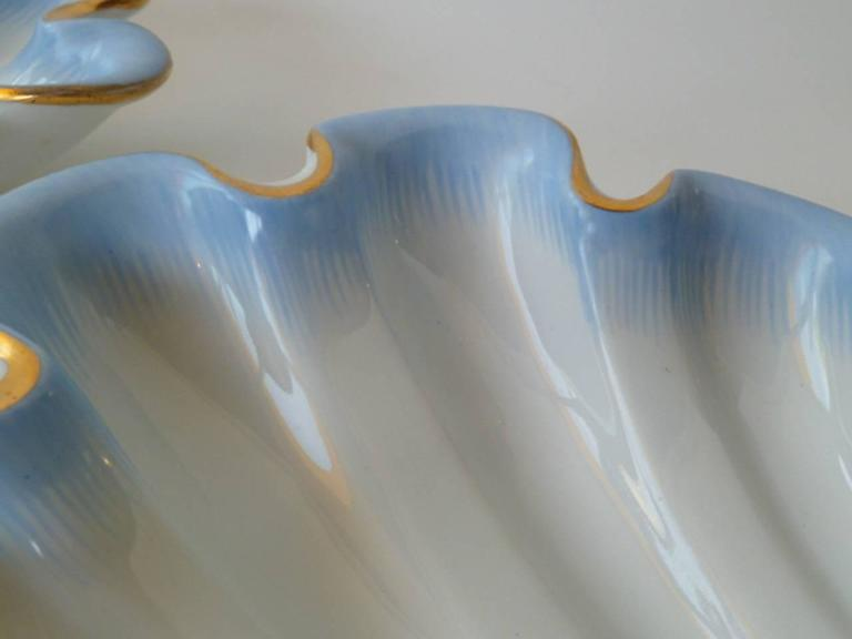 Pair of Herend Hungary Modern Shell Porcelain Vessels, 1939 7