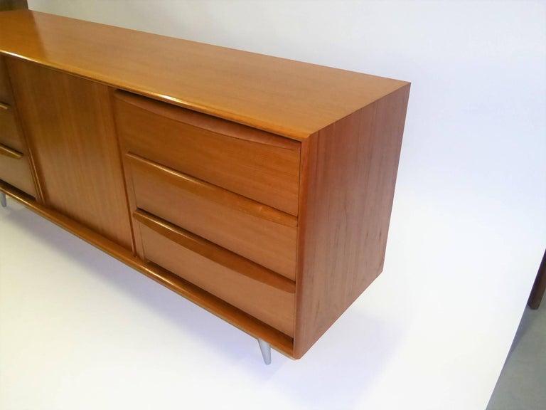 1970s Fine Danish Teak Sideboard Credenza 2