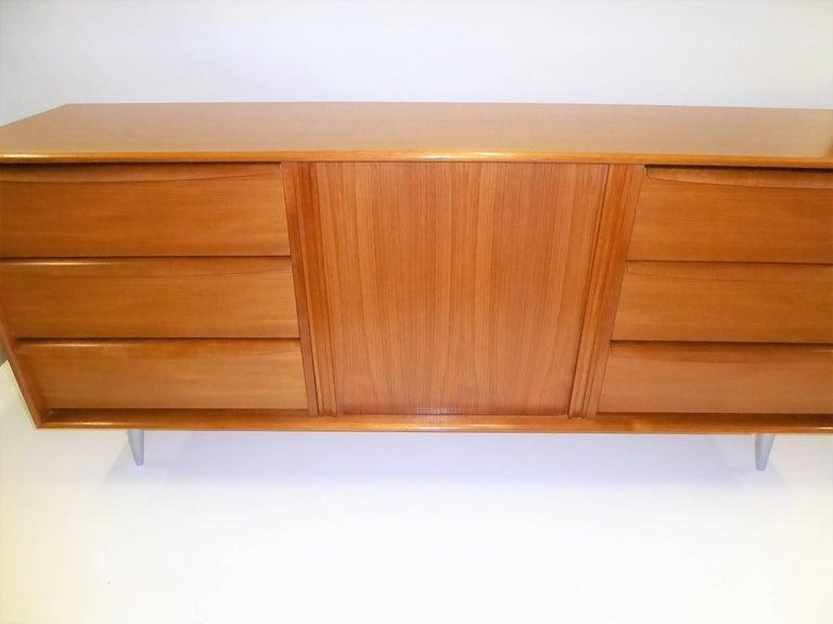 1970s Fine Danish Teak Sideboard Credenza 4