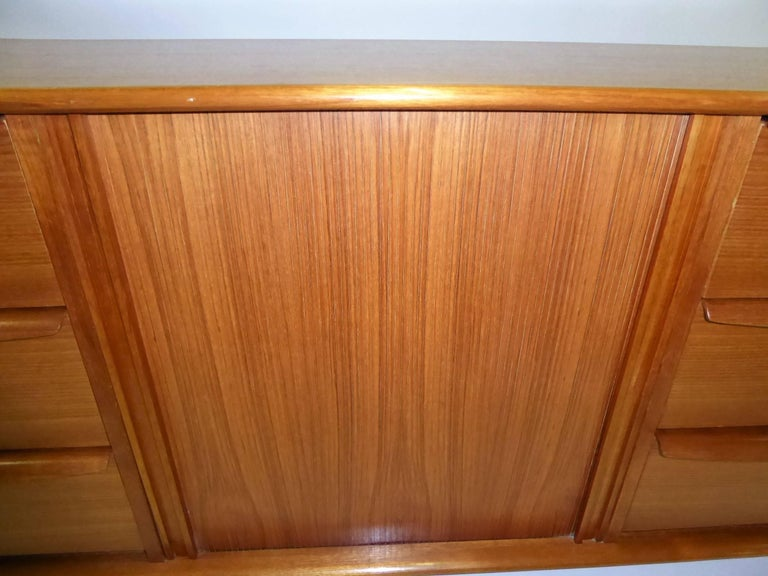 1970s Fine Danish Teak Sideboard Credenza 5
