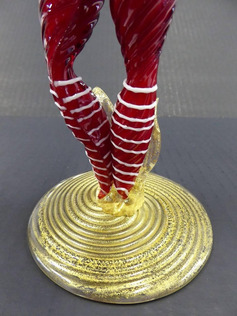 Mid-Century Modern Murano Venetian Figurine with Top Hat, 1950s In Excellent Condition For Sale In Miami, FL