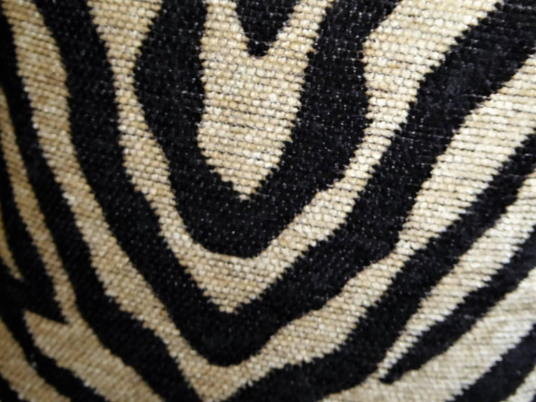 1940s Musical Motif Carved Giltwood Side Chair in Zebra Chenille For Sale 3