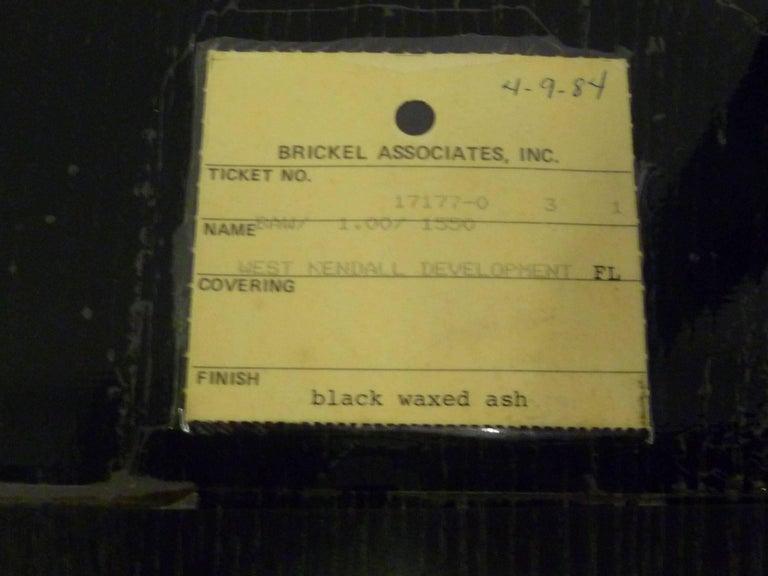 Ward Bennett 1550 University Black Ash Armchair for Brickel Associates For Sale 11