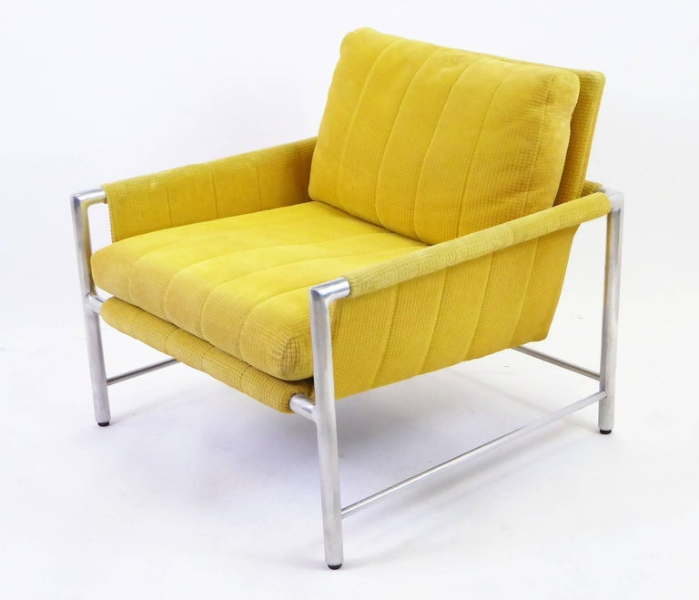 American Pair of 1960s Founders Furniture Lounge Chairs in the Style of Harvey Probber For Sale