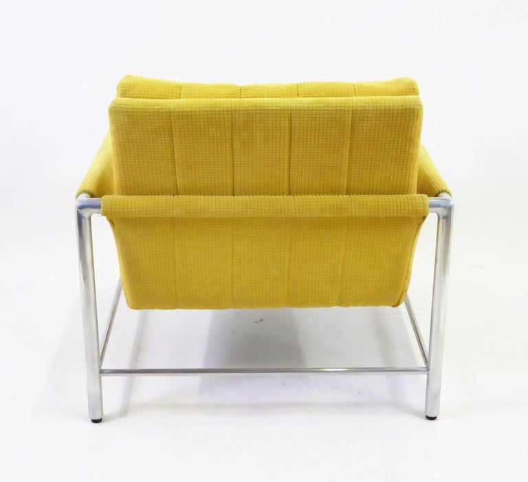 Aluminum Pair of 1960s Founders Furniture Lounge Chairs in the Style of Harvey Probber For Sale
