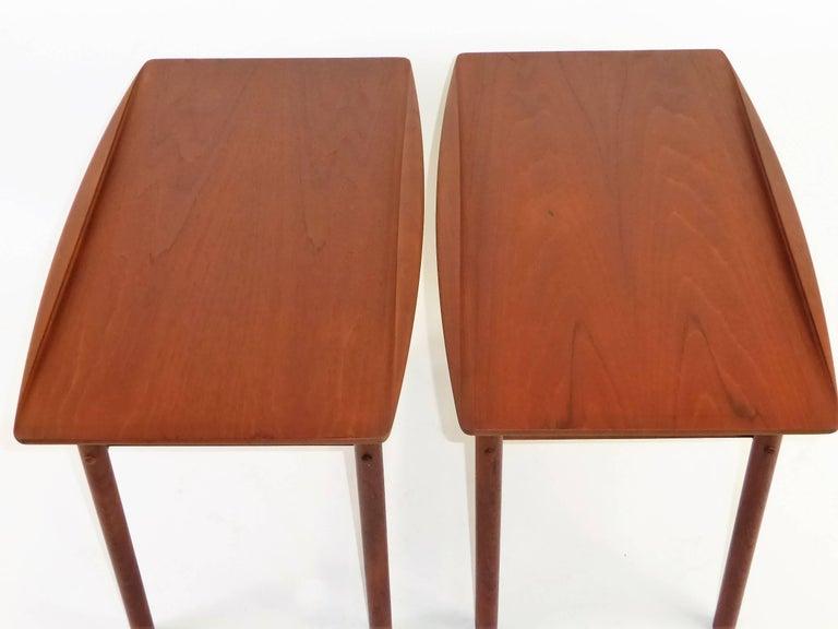 Scandinavian Modern 1960s Grete Jalk Teak Side Tables for Poul Jeppesen For Sale