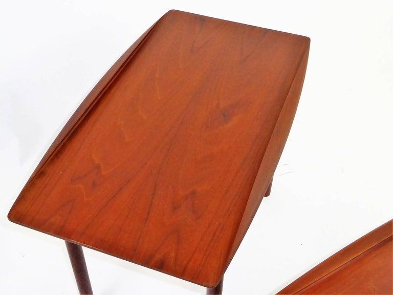 1960s Grete Jalk Teak Side Tables for Poul Jeppesen For Sale 2