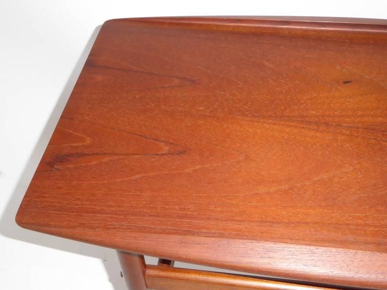1960s Grete Jalk Teak Side Tables for Poul Jeppesen For Sale 5
