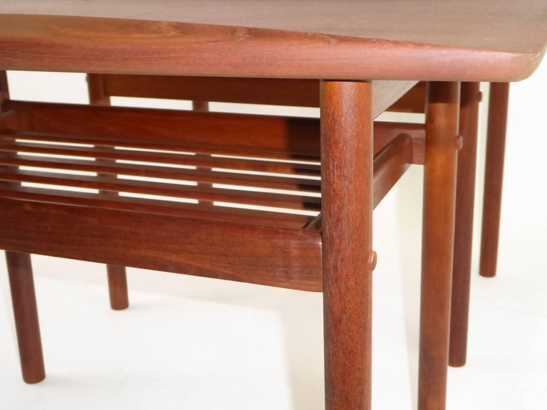 1960s Grete Jalk Teak Side Tables for Poul Jeppesen For Sale 6
