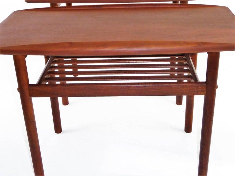 1960s Grete Jalk Teak Side Tables for Poul Jeppesen For Sale 7