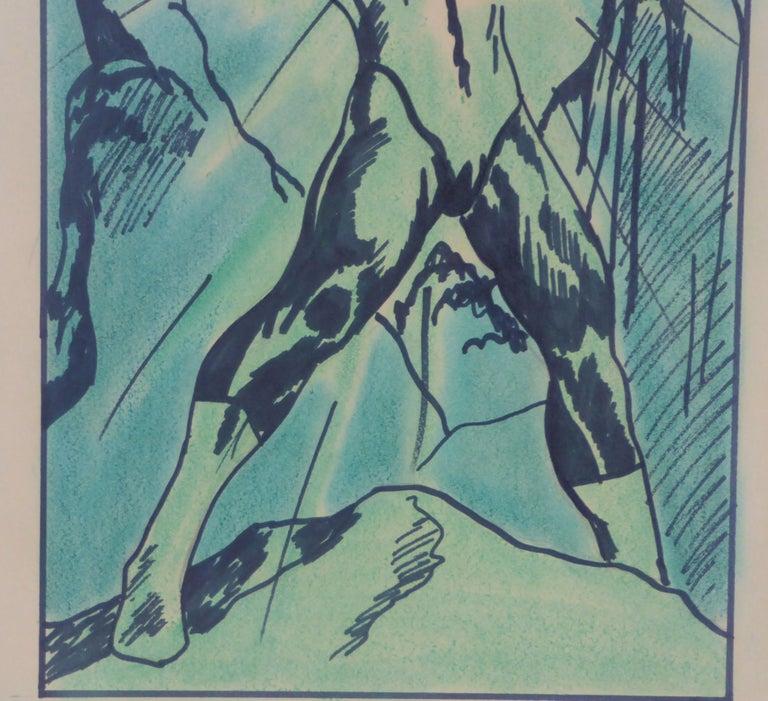 1971 the Green Lantern DC Comics Superhero Large Painting For Sale 1