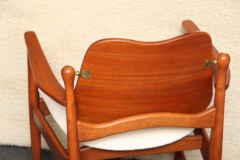 Mid-20th Century 1950s Arne Vodder Teak and Cane Armchair For Sale