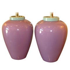 1980s Memphis Era Oil Jar Table Lamps Miami Vice