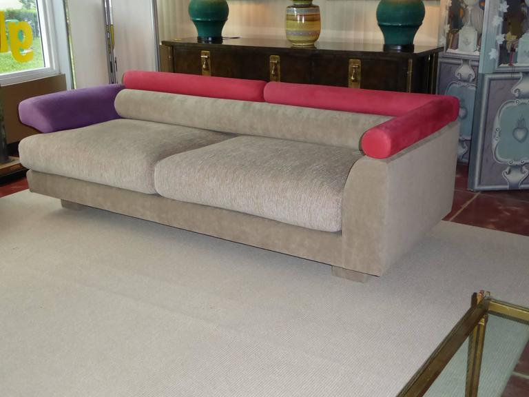 1980s elegant post modern memphis inspired sofa at 1stdibs for Designer sofa replica