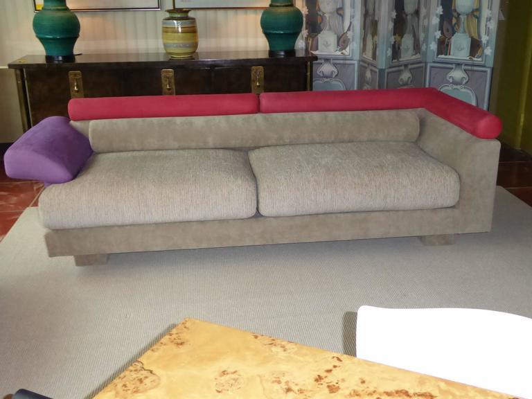 1980s Elegant Post Modern Memphis Inspired Sofa At 1stdibs