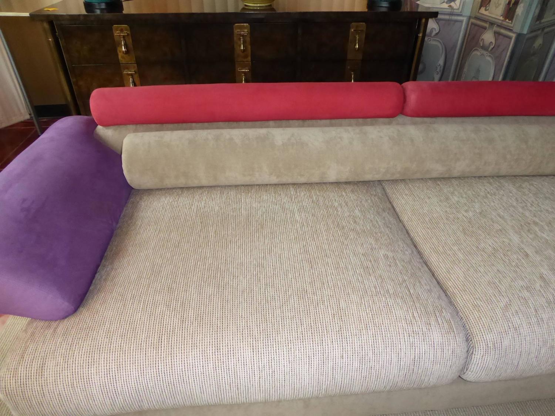 1980s Elegant Post Modern Memphis Inspired Sofa For Sale