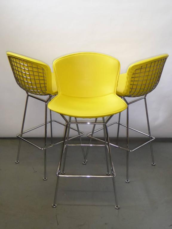 Three Harry Bertoia Barstools For Knoll At 1stdibs