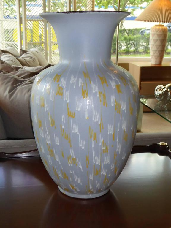 Mid-Century Modern Large Carstens 1956 Pottery Floor Vase Germany For Sale