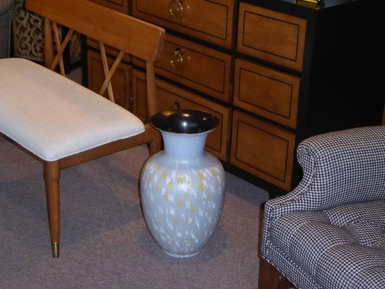 Large Carstens 1956 Pottery Floor Vase Germany In Excellent Condition For Sale In Miami, FL
